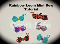 Craft Life Mini Rainbow Loom Bow Tutorial ~ Bow Charm ~ One Loom
