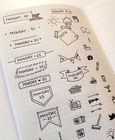 Image result for doodle ideas bullet journal
