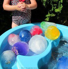 Glittery Frozen Water Balloon for Summer Fun