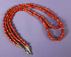 Mediterranean Coral and Shell Heishi Necklace , Jewelry by   Santo Domingo   $850