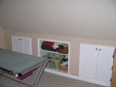 Crawl Space Idea, Upstairs Recessed Cabinet Storage