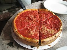 Chicago Pizza (Giordano's ?) *I have been to Chicago, and no store bought/Pizza Hut/Papa Murhpy's, etc, restaurant around here could even compare to authentic Chicago Deep Dish Pizza. I would love to take Justin up there sometime and show him what real pizza is like, lol.