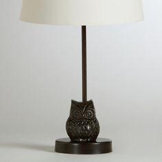 Owl Metal Accent Lamp Base at Cost Plus World Market >> #WorldMarket Owl