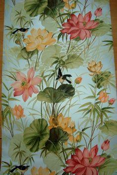 Afbeeldingsresultaat voor vintage behang bloemen rood