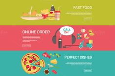 Fast food by VectorMarket on Creative Market