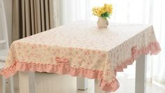 Image result for shabby chic tablecloth