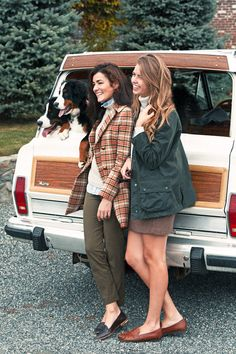 Classy Girls Wear Pearls spotted in the Tory Burch Plaid Short Coat