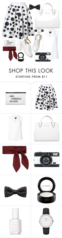 """Retro Style"" by megraciegurl ❤ liked on Polyvore featuring Derek Lam, Michael Kors, M. Gemi, Chloé, LØMO, ZuZu Kim, MAC Cosmetics, Essie and CLUSE"