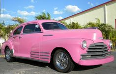 1948  Chevrolet Fleetline, First car I can remember - my Grandpa's was an ugly greenish gray - pink is much prettier!
