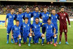 Italy poses prior to the international friendly match between Italy and Nethrerlands at Stadio San Nicola on September 4, 2014 in Bari, Italy.