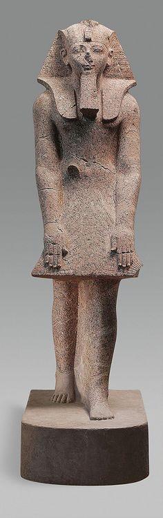 Hatshepsut in a Devotional Attitude  Date: ca. 1473–1458 B.C.  Deir el-Bahri, Senenmut Quarry, MMA 1927-1928  Accession Number: 28.3.18