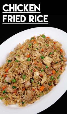 Chicken Fried Rice Recipe & Video – Seonkyoung Longest Chicken fried rice is one of the menus that you can serve to anyone, any time! My chicken fried rice recipe is healthier because I'm using brown jasmine ric Jasmine Rice Recipes, Easy Rice Recipes, Asian Recipes, Healthy Recipes, Easy Chinese Recipes, Arabic Recipes, Vegetarian Recipes, Healthy Food, Fried Rice Recipe Chinese