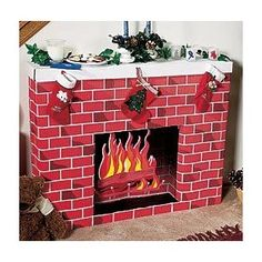 DIY Faux Fireplace Made From Wardrobe Cardboard Boxes   Fake ...