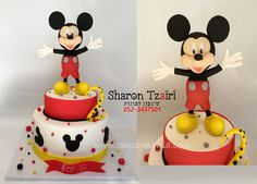 micky mause cake by sharon tzairi - cakes-mania עוגת מיקי מאוס מאת שיגעון העוגות  - www.cakes-mania.com