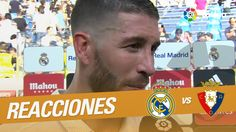 """Interview to Sergio Ramos: """"Hay que seguir mejorando pero el equipo ha i..."""