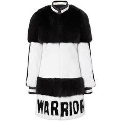 "fur coat ""warrior"" ($13,240) ❤ liked on Polyvore featuring outerwear, coats, black fur coat, black coat and fur coat"
