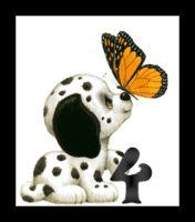 Lindo alfabeto de pequeños perritos con mariposa. | Oh my Alfabetos!