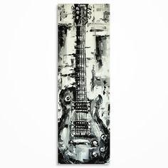 Guitar wall art Music art Gift for a musician by MagdaMagier