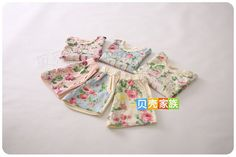 Seashells Kids Kids Set: Floral Print Short-Sleeve T-Shirt + Shorts | YESSTYLE