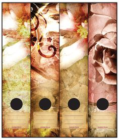 Roses and Lilies on Lever Arch file labels.  Self-Adhesive. 4 labels per packet.