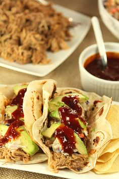 Slow Cooker Kalua Pork Tacos...and More Football Food and Drinks! - Creative-Culinary.com