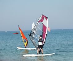 Windsurfing lesson on the waterfront. For more, see http://pigeonpairandme.com/2014/08/mark-warner-levante-resort-rhodes.html