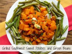 RD's Hot Dish: Grilled Southwest Sweet Potatoes and Green Beans