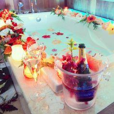 serene flower bath - Google Search
