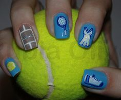 Tennis nails hair today gone tomorrow pinterest id maybe paint tennis nails prinsesfo Choice Image