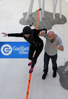 AWESOME Slacklining & filming with Jason Bradbury & Rachel Riley for the The Gadget Show today. Broadcast Dec 30th on Channel 5 - Big thanks to all the crew at NorthoneTV & TriSlacklining www.maverickslacklines.co.uk