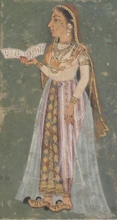 Zeb-un-Nissa Begum the poetess of the Mughal era. Zeb-un-nisa Begum (Ornament of Womankind), the eldest daughter of Emperor Aurangzeb aka Alamgir I Mughal Miniature Paintings, Mughal Paintings, Indian Paintings, King Of India, Indian Traditional Paintings, Mughal Architecture, Indiana, Mughal Empire, India Colors