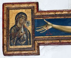 Giunta Pisano (Giunta Capitini, detto) - Crocifisso di Bologna, dettaglio - 1250-54 -  Tempera su tavola - Bologna, Chiesa di San Domenico.