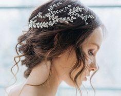 Bridal Hair Piece Bridal Halo Bridal Hair Wreath by Bianoco