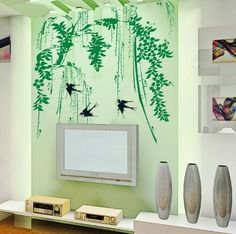 YYone Weeping Willow and Swallows Removable Wall decor Decals Sticker YYone http://www.amazon.com/dp/B00K5L21R4/ref=cm_sw_r_pi_dp_grHQtb15M5SQTBZ3