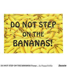 Unique Doormats & Welcome Mats Banana Funny, Banana Print, Personalized Door Mats, Doormat, Bananas, Jokes, Yellow, Board, Colors