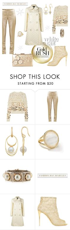 """""""Winter White & GOLD"""" by closet-freak ❤ liked on Polyvore featuring Marc Jacobs, SEMICOUTURE, PearLustre by Imperial, Ippolita, Konstantino, Simone Rocha, Dolce&Gabbana, Rimen & Co., Winter and gold"""