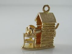 Rare Unusual Mechanical Vintage 3D 9ct Gold Shed,Kettle Cup Charm H/MK 1963 by BishopsAttic on Etsy