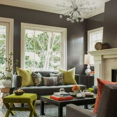 How to use color to tie an entire room together! (image via Ann Lowengart Interiors)