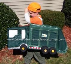 My Little Garbage Man: My son loves the garbage man and the garbage trucks. All he wanted for Halloween this year (2008) was a garbage truck costume.  First he wanted to be a