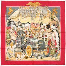 """RARE Auth Hermes Paris """"CONCOURS D'ELEGANCE"""" Vintage Silk Scarf KERMIT OLIVER 35:"""