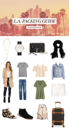 Los Angeles California Packing Guide + what to wear: see the products and outfits on alittleleopard.com