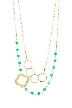 Clover Long Necklace by Charlene K on @HauteLook