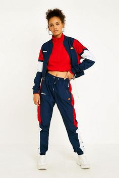 Shop Ellesse Navy Panel Shell Track Pants at Urban Outfitters today. Hip Hop Outfits, Dance Outfits, Sport Outfits, Cute Outfits, Ellesse, Sport Fashion, Fashion Outfits, Fasion, Urban Outfitters