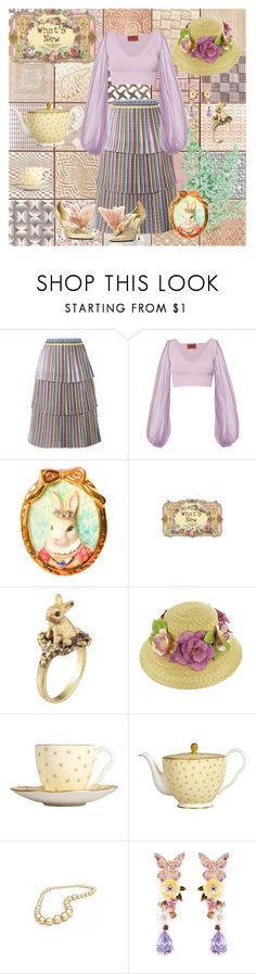"""New"" by pedeka ❤ liked on Polyvore featuring Mary Katrantzou, Missoni, Hop Skip & Flutter, POLICE, Wedgwood and Anabela Chan"