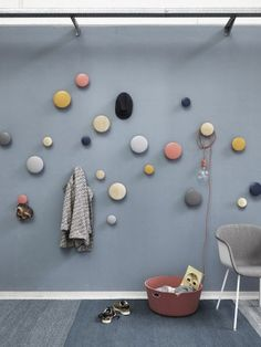 Use Dots in the kitchen or bedroom as an aesthetic accessory