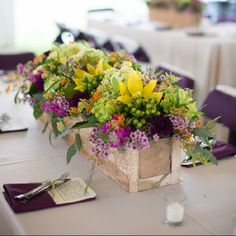 DIY Centerpiece Planter Box Wedding