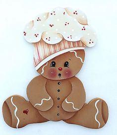 HP GINGERBREAD FRIDGE MAGNET baby chef