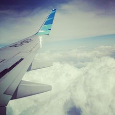 #wing #plane #jet   This pictute was took when i went to #makassar #southsulawesi - #webstagram