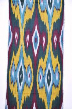 3 Yard Ikat fabric 100 Cotton by EasternHomeDecor on Etsy, $30.50