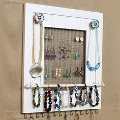 Jewelry Organizer want to make this!!